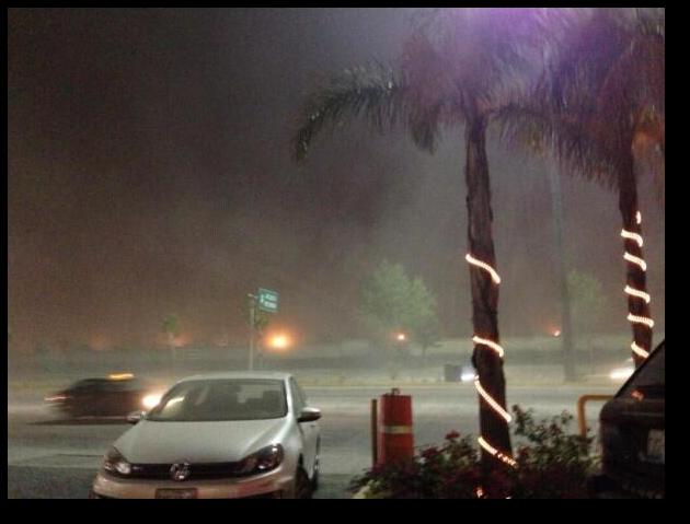 Ashfall in Puebla last night.  Source