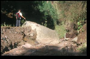A boulder carried by one of Popocatepetl's past lahars.  University of Castilla-La Mancha