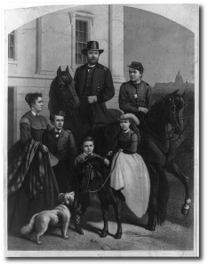 Fred survived the war; that's him on the horse in this 1868 engraving.  Library of Congress.