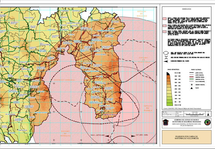 Risk Map from Operative Plan Popocatepetl
