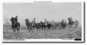 A battery of light artillery (not Forrest's) en route.  Source:  Library of Congress
