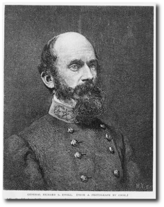 General Richard S. Ewell.  Source:  Library of Congress.
