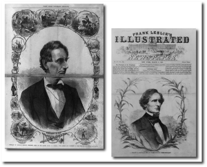 Abraham Lincoln and Jefferson Davis - 1861 newsmakers.  Library of Congress.