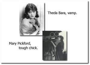 The difference between a vamp and a tough chick.