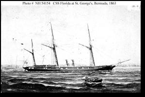 The CSS Florida in Bermuda, 1863.  (U.S. Naval Historical Center)
