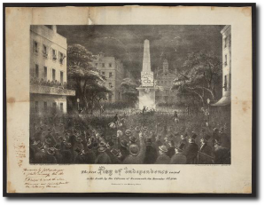 """""""The first flag of independence raised in the South ... ."""" (Library of Congress)"""