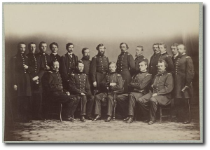 General Banks and staff during the war.