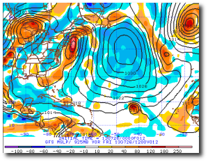 See Dorian in this current run of the GFS?