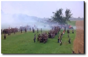 One frame of the Pickett's Charge sequence in Gettysburg.