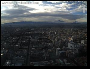 Popocatépetl from Mexico City.