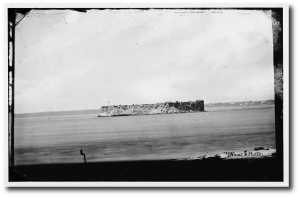 Fort Sumter in August, 1863.  (Library of Congress)