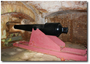 Fort Sumter cannon (Photo: Rennett ) .  Well, there's your problem, right there.