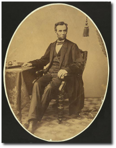 President Lincoln in the fall of 1863.  (Library of Congress)
