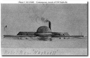 The CSS Nashville, built in 1863.  (Wikipedia)