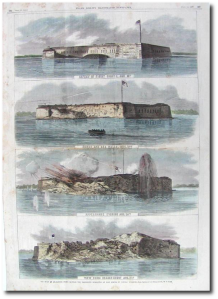 Frank Leslie's Illustrated Newspaper pictured the damage in August 1863.  (National Park Service)