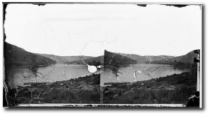 A view of the Tennessee River near Ruby Falls in 1863, Matthew Brady (US National Archives)