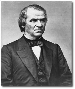 Andrew Johnson, before or during the war years.  (Library of Congress)