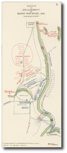 Map of the Bayou Fourche battle.  (Wikipedia)
