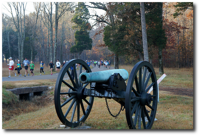 Nowadays a different, happier form of physical exertion happens at Chickamauga Battlefield.  (Charlene N. Simmons)