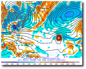 Humberto, not a quitter, according to the GFS.