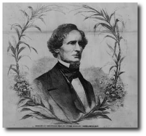 Jefferson Davis circa 1861.  (Library of Congress)