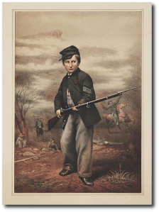 US drummer boy John Clem at Point Lookout, by James Fuller Queen.  (Library of Congress)