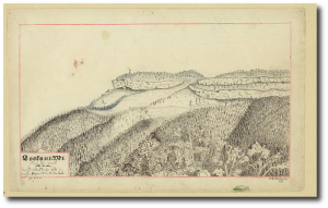 Lookout Mountain from the west in 1863 (Library of Congress)