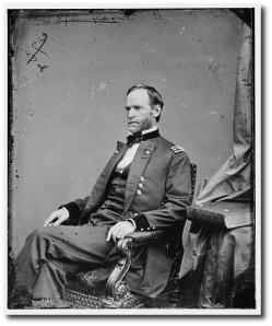 General Sherman during the war.  (Library of Congress)