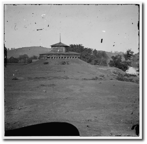 Blockhouse on the Tennessee River during the war.  (Library of Congress)