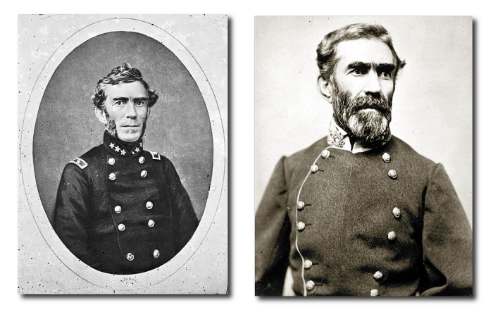 Bragg before and after Chickamauga.  Early in the war, many Confederate officers wore their US uniforms until CSA uniforms could be made.