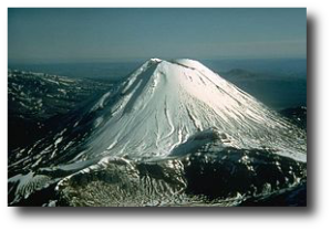 The real Mount Doom, just chillin.  (Wikipedia)
