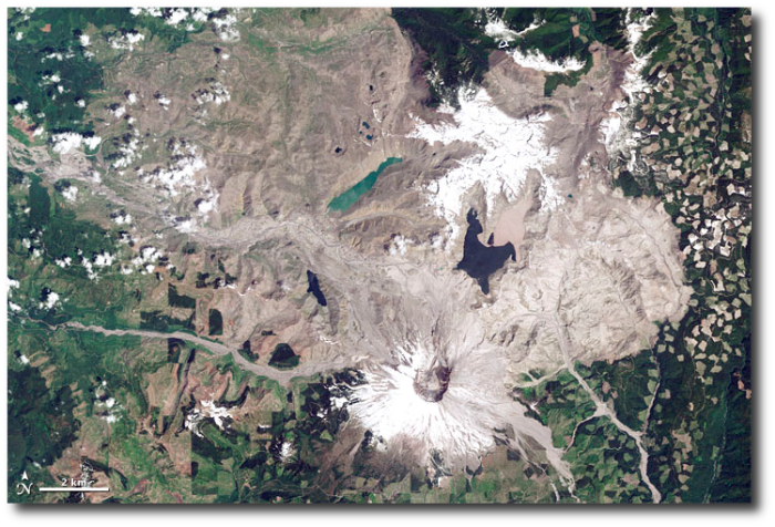 Mount St. Helens vicinity right after the 1980 eruption.