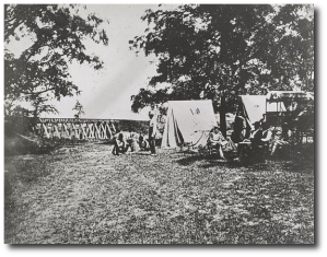 The Wauhatchie bridge during the war.  (Library of Congress)