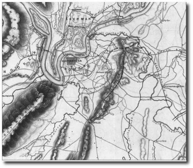 Chattanooga battle lines