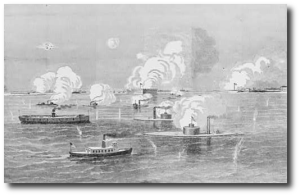 Bombardment of Fort Sumter.  (Library of Congress)