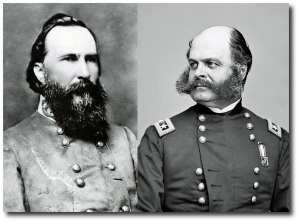 Generals Longstreet and Burnside.  (Wikipedia)