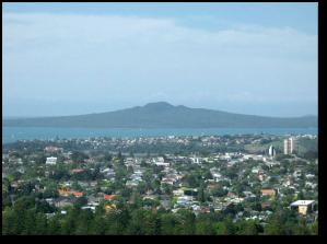 Rangitoto Island from One-Tree Hill.  (Wikipedia)
