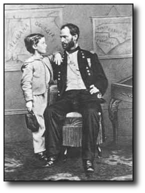 A variety of sources suggest that Sherman's actions during these campaigns were affected by grief over the loss of his son William back in October.  (Image source)