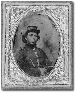 Unidentified black US soldier during the war.  (Library of Congress)