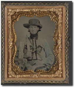 Unidentified Confederate cavalryman during the war.  (Library of Congress)