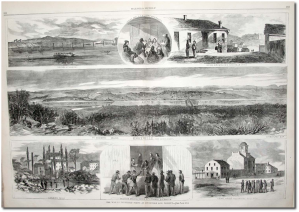 Views of Knoxville, from Harper's Weekly in early 1864.  (Library of Congress)  Click to enlarge.