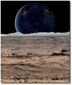 Yes, this composite of two NASA images - one of the Black Marble images and a Curiosity rover panorama - will be the cover, if a book does actually form.