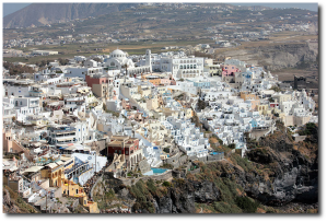 Fira, the island's capital.  (Wikipedia)