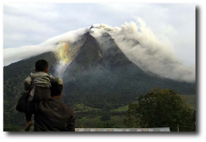 Sinabung erupting in 2010.  (Source)