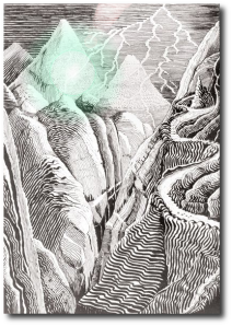 "J.R.R. Tolkien's ""The Mountain-path"" with enhancement."