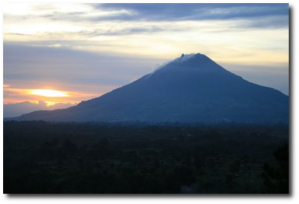 A quiet Mount Sinabung in 2009.  (Source)