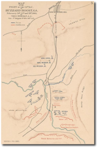 US Army Corps of Engineers map of the fighting around Buzzard Roost.