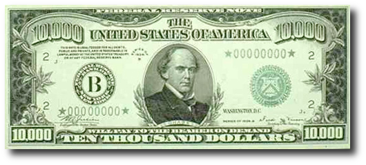 This guy - and yes, that is a $10,000 bill.