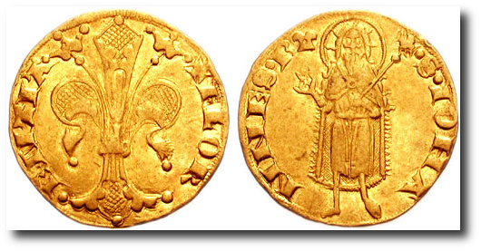 An Italian florin, named after Florence.
