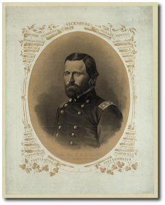 A popular image of General Grant circa 1864.  (Library of Congress)